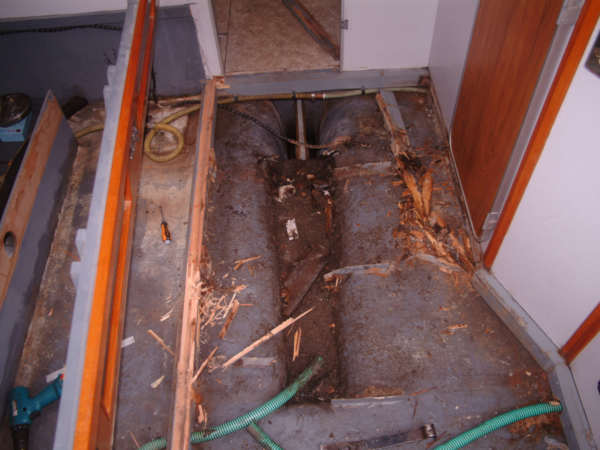 Rot in boat flooring
